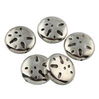 Verkupfertes Kunststoff-Perlen, Verkupferter Kunststoff, flache Runde, Platinfarbe platiniert, 21x6mm, Bohrung:ca. 1mm, 20PCs/Tasche, verkauft von Tasche