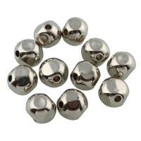 Verkupfertes Kunststoff-Perlen, Verkupferter Kunststoff, Platinfarbe platiniert, 10x10mm, Bohrung:ca. 2mm, 50PCs/Tasche, verkauft von Tasche
