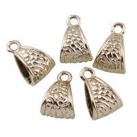 Zinklegierung Stiftöse Perlen, vergoldet, frei von Blei & Kadmium, 9x14x8mm, Bohrung:ca. 1.5mm, 20PCs/Tasche, verkauft von Tasche