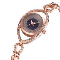 Damen Armbanduhr, Zinklegierung, mit Glas & Edelstahl, plattiert, für Frau & mit Strass, keine, 23x7.5mm, Länge:ca. 8.5 ZollInch, verkauft von PC