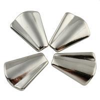 Verkupfertes Kunststoff-Perlen, Verkupferter Kunststoff, Platinfarbe platiniert, 22.50x29x5mm, Bohrung:ca. 1mm, 20PCs/Tasche, verkauft von Tasche