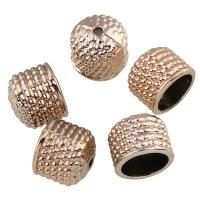 Zinklegierung Perlkappen, vergoldet, frei von Blei & Kadmium, 9x11mm, Bohrung:ca. 1mm, Innendurchmesser:ca. 8mm, 20PCs/Tasche, verkauft von Tasche