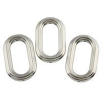 Verkupfertes Kunststoff-Perlen, Verkupferter Kunststoff, flachoval, Platinfarbe platiniert, 30x49x6mm, Bohrung:ca. 1.5mm, 10PCs/Tasche, verkauft von Tasche