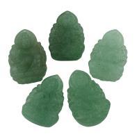 Grüner Achat Anhänger, Buddha, buddhistischer Schmuck, 19x28x7mm-20x30x7mm, Bohrung:ca. 1mm, 5PCs/Tasche, verkauft von Tasche