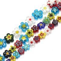 Chevron Glasperlen, Glas Chevron, Blume, verschiedene Größen vorhanden, Bohrung:ca. 1mm, verkauft per ca. 16 ZollInch Strang
