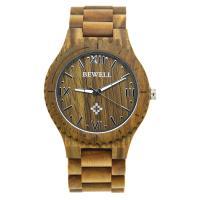 BEWELL® Uhrenkollektion, Holz, mit Glas & Edelstahl, verschiedenen Materialien für die Wahl & für den Menschen, 56mm, Länge:ca. 8.5 ZollInch, verkauft von PC