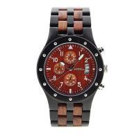 BEWELL® Uhrenkollektion, Sandelholz, mit Glas & Edelstahl, für den Menschen, keine, 46mm, Länge:ca. 8.5 ZollInch, verkauft von PC