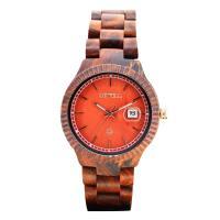 BEWELL® Uhrenkollektion, Sandelholz, mit Glas & Edelstahl, verschiedenen Materialien für die Wahl & für den Menschen, 45mm, Länge:ca. 8.5 ZollInch, verkauft von PC