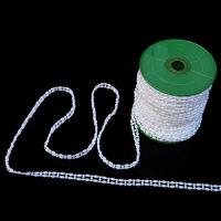 ABS-Kunststoff-Perlen Perle Seil, weiß, 4-6mm, ca. 25m/Spule, verkauft von Spule