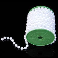 ABS-Kunststoff-Perlen Perle Seil, weiß, 10mm, ca. 10m/Spule, verkauft von Spule