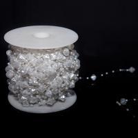 ABS-Kunststoff-Perlen Perle Seil, weiß, 10mm, ca. 60m/Spule, verkauft von Spule