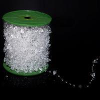 Acryl Perle Seil, klar, 10x6mm, ca. 60m/Spule, verkauft von Spule