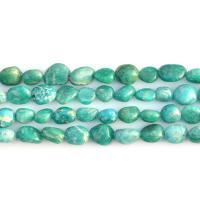 Amazonit Perlen, grün, 7x9mm, Bohrung:ca. 0.8mm, ca. 44PCs/Strang, verkauft per ca. 15.7 ZollInch Strang