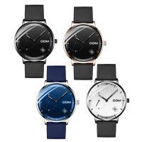 DOM® Uhrenkollektion, Kuhhaut, mit Zinklegierung Zifferblatt & Glas & Edelstahl, plattiert, einstellbar & für den Menschen & wasserdicht & glänzend, keine, 40x11mm, 20mm, Länge:ca. 7.6 ZollInch, verkauft von PC