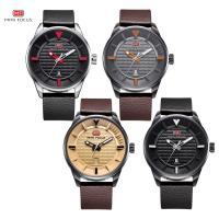 MINIFOCUS® Uhrenkollektion, Kuhhaut, mit Zinklegierung Zifferblatt & Glas & Edelstahl, plattiert, einstellbar & für den Menschen & wasserdicht, keine, 46x12mm, 22mm, Länge:ca. 9.8 ZollInch, verkauft von PC