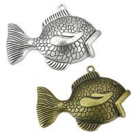 Zink-Legierung Cabochon Weissgold, Zinklegierung, Goldfisch, plattiert, keine, frei von Nickel, Blei & Kadmium, 64x47x10mm, Bohrung:ca. 3mm, Innendurchmesser:ca. 3mm, ca. 50PCs/Tasche, verkauft von Tasche
