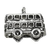 Fahrzeug Zinklegierung Anhänger, Auto, antik silberfarben plattiert, frei von Nickel, Blei & Kadmium, 16.50x14x7mm, Bohrung:ca. 1.5mm, ca. 200PCs/Tasche, verkauft von Tasche