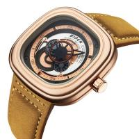 BIDEN® Uhrenkollektion, Leder, mit Glas & Edelstahl & Zinklegierung, plattiert, einstellbar & für den Menschen, keine, 41x13mm, Länge:ca. 9 ZollInch, verkauft von PC
