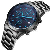BIDEN® Uhrenkollektion, Edelstahl, mit Glas & Zinklegierung, schwärzen, für den Menschen, keine, 40x10mm, Länge:ca. 9 ZollInch, verkauft von PC