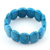 Mode Türkis Armbänder, Synthetische Türkis, unisex, blau, 15x20x6mm, verkauft per ca. 7.5 ZollInch Strang