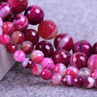 Natürliche Rosa Achat Perlen, verschiedene Größen vorhanden & facettierte, verkauft per ca. 15.7 ZollInch Strang
