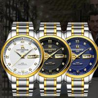 ONTHEEDGE®-Männer-Schmuck-Uhren, Edelstahl, mit Glas, plattiert, für den Menschen & glänzend & mit Strass, keine, 38x9mm, Länge:ca. 9 ZollInch, verkauft von PC