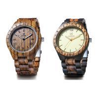 UWOOD® Uhrenkollektion, Holz, mit Glas & Edelstahl, verschiedenen Materialien für die Wahl & unisex, 46x12mm, Länge:ca. 8.5 ZollInch, verkauft von PC