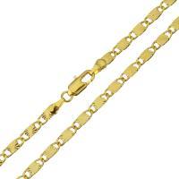Messingkette Halskette, Messing, 24 K vergoldet, unisex & Mariner-Kette, 10x3.50mm, verkauft per ca. 20 ZollInch Strang