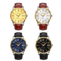 DOM® Uhrenkollektion, Leder, mit Glas & Edelstahl, plattiert, einstellbar & für den Menschen & mit Strass, keine, 40x11mm, Länge:ca. 9 ZollInch, verkauft von PC