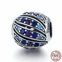 Thailand European Perlen, rund, ohne troll & mit kubischem Zirkonia, 12x12mm, Bohrung:ca. 4.5-5mm, verkauft von PC