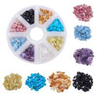 Mischedelstein Perlen, Edelstein, mit Kunststoff Kasten, gemischt, 5-8mm, 105x105x28mm, Bohrung:ca. 1mm, verkauft von Box