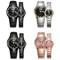 DOM® Uhrenkollektion, Wolfram Stahl, mit Glas & Edelstahl, plattiert, unisex & verschiedene Größen vorhanden & für paar & mit Strass, keine, verkauft von PC
