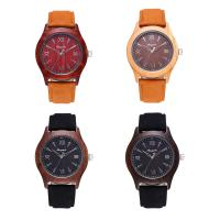 CYD CHAOYADA® Uhrenkollektion, Leder, mit Glas & Holz & Edelstahl, verschiedenen Materialien für die Wahl & einstellbar & für den Menschen, 40x10mm, Länge:ca. 10 ZollInch, verkauft von PC