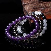 Natürlicher Quarz Perlen Schmuck, rund, verschiedenen Materialien für die Wahl & verschiedene Größen vorhanden, verkauft per ca. 7 ZollInch Strang