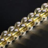 Natürlicher Citrin Perlen, Gelbquarz Perlen, rund, verschiedene Größen vorhanden, gelb, verkauft per ca. 15.7 ZollInch Strang