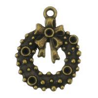 Zink-Legierung Cabochon Weissgold, Zinklegierung, Schleife, antike Bronzefarbe plattiert, frei von Nickel, Blei & Kadmium, 20x26x2mm, Bohrung:ca. 2mm, Innendurchmesser:ca. 2mm, 200PCs/Tasche, verkauft von Tasche