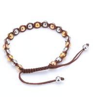 Titanstahl Woven Ball Armband, mit Nylonschnur, plattiert, unisex & einstellbar, verkauft per ca. 6.5 ZollInch Strang