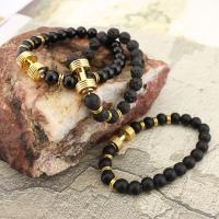Edelstein Armbänder, mit Zinklegierung, goldfarben plattiert, verschiedenen Materialien für die Wahl & unisex, verkauft per ca. 8 ZollInch Strang