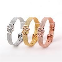 Edelstahl Schmuck Armband, plattiert, für Frau & mit Strass, keine, 10x1mm, verkauft per ca. 8.3 ZollInch Strang