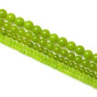 Olive Jade Perle, rund, natürlich, verschiedene Größen vorhanden, grün, verkauft per ca. 15.7 ZollInch Strang