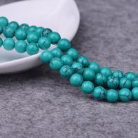 Türkis Perlen, Synthetische Türkis, rund, natürlich, verschiedene Größen vorhanden, grün, verkauft per ca. 15.7 ZollInch Strang