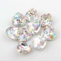 Kristall Eisen auf Nagelkopf, facettierte, Kristall, 12x12x5mm, 10PCs/Tasche, verkauft von Tasche