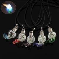 Lampwork Halskette, mit Gummiband, handgemacht, unisex & glänzend, keine, 26x36x16mm, verkauft per ca. 17 ZollInch Strang