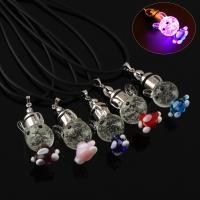 Lampwork Halskette, mit Gummiband, handgemacht, unisex & glänzend, keine, 15x36x16mm, verkauft per ca. 17 ZollInch Strang