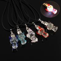 Lampwork Halskette, mit Gummiband, handgemacht, unisex & glänzend, keine, 22x36x18mm, verkauft per ca. 17 ZollInch Strang