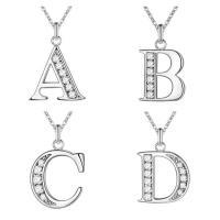 Messing Halskette, silberfarben plattiert, Oval-Kette & verschiedene Stile für Wahl & für Frau & mit Strass, 12mm, verkauft per ca. 18 ZollInch Strang