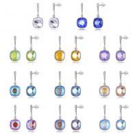 925er Sterling Silber Tropfen Ohrring, mit CRYSTALLIZED™, platiniert, Micro pave Zirkonia & für Frau & facettierte, keine, 11x25mm, verkauft von Paar