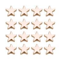 Messing Schmuckperlen, Stern, Rósegold-Farbe plattiert, frei von Nickel, Blei & Kadmium, 11mm, Bohrung:ca. 1mm, 10PCs/Tasche, verkauft von Tasche