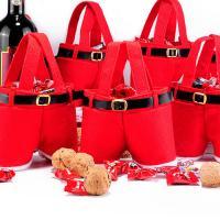 Weihnachtsgeschenkbeutel, Harter Baumwollsamt, Weihnachtsschmuck & verschiedene Größen vorhanden, rot, verkauft von PC