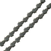 Nicht-magnetische Hämatit Perlen, Non- magnetische Hämatit, Mais, 6x5x3mm, Bohrung:ca. 1mm, Länge:ca. 10 ZollInch, 10SträngeStrang/Menge, ca. 43PCs/Strang, verkauft von Menge